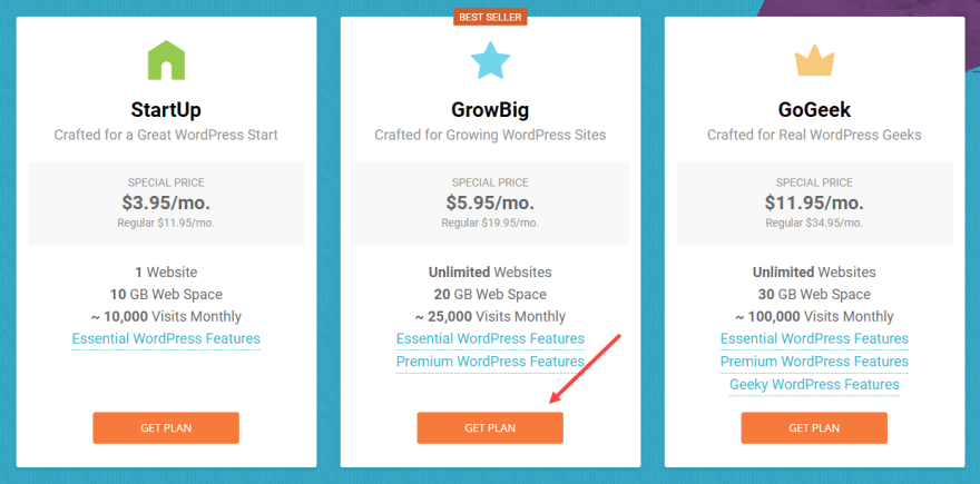 siteground-web-hosting-plan-page