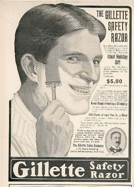 Gillette print ad