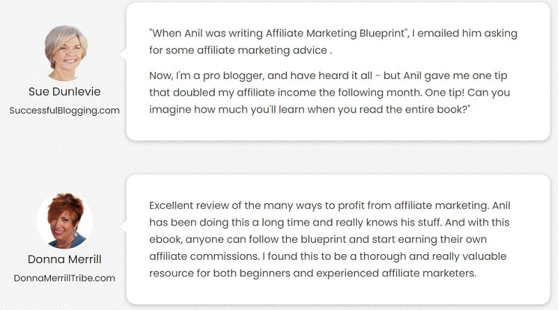 affiliate marketing ebook testimonials