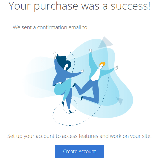bluehost signup success