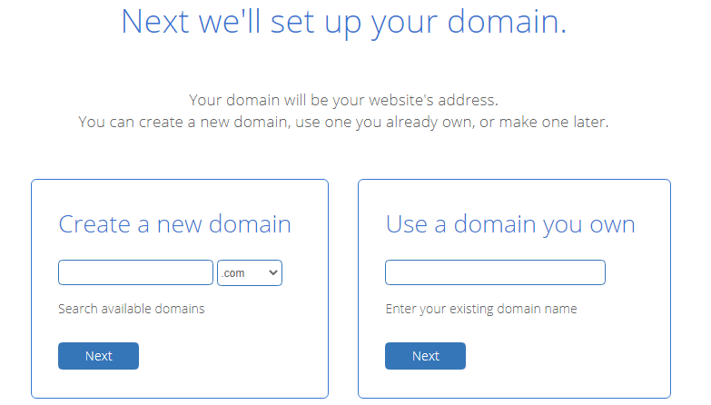bluehost domain name setup
