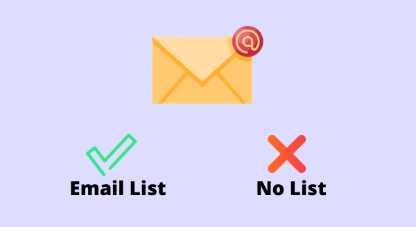 not building email list