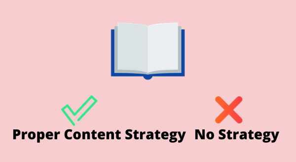 not having content strategy