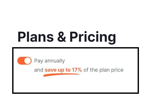 Semrush discount on annual plan