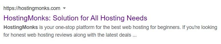 HostingMonks Meta Description