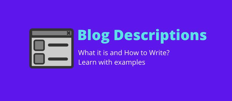 what is blog descriptions